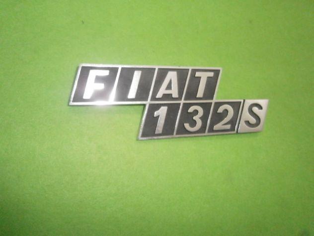 Fiat 132 S scritta logo targhetta posteriore in metallo NUOVA