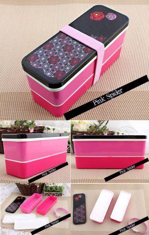 Bento box rosa rose alimenti cibo picnic obento o-bento