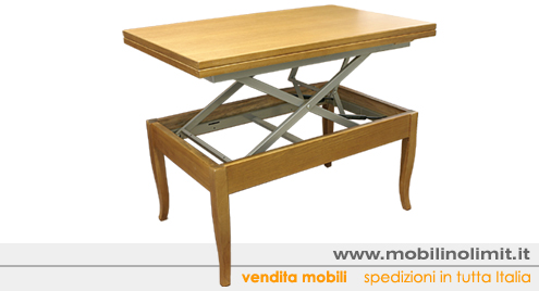 Tavolino Trasformabile salvaspazio rovere (nuovo) - Foto 3