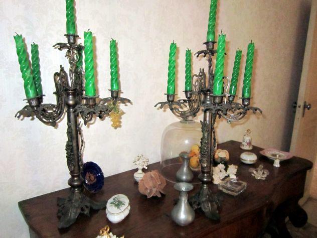 Antica coppia di Candelieri - Foto 3