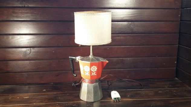 C83 alluminio vecchio lampada base caffettiera Stilnova 6tz