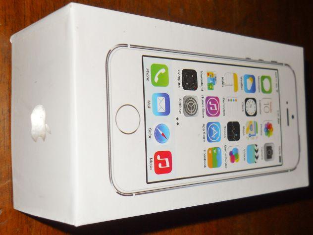 Apple iPhone 5 S 8 GB gold/silver scatola vuota e manuale d