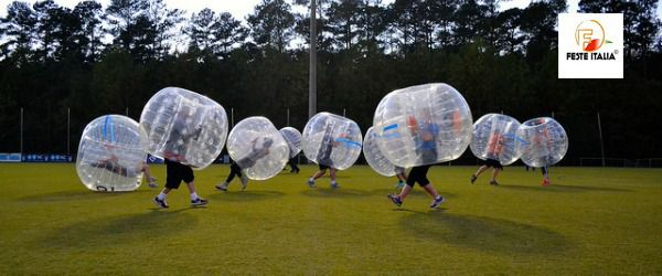 affitto noleggio bubble football o bubble soccer genova