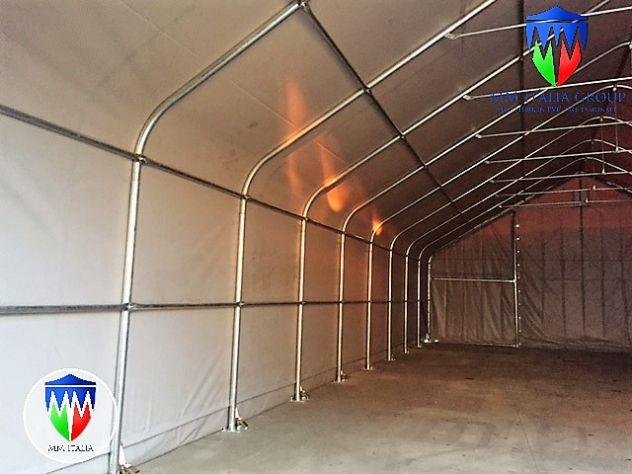 Tunnel Tendoni Professionli 8 x 18 x 4,40 Pvc Ignifugo MM Italia