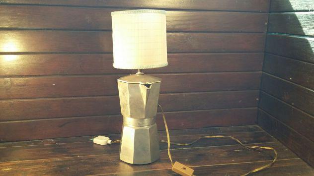 A227 alluminio vecchio lampada base caffettiera Zanzibar 8tz