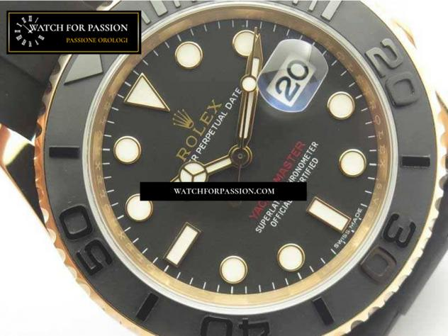 REPLICA ROLEX YACHT-MASTER 116655 BEST EDITION QUADRANTE IN CERAMICA ON SU  … - Foto 2